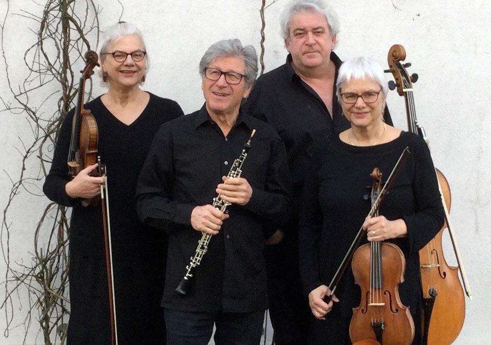 Mercredi 19 août 2020«Le charme du hautbois»Boris Pamouktchiev (hautbois), Aldo Ripoche (Violoncelle), Anne et Ruth Weber (violon et alto)